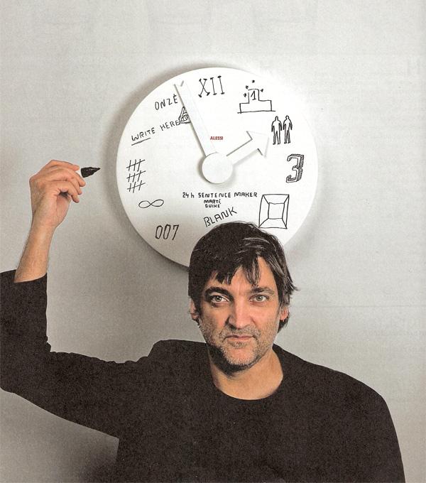 Blank Wall Clock di Marti Guixe\' per Alessi