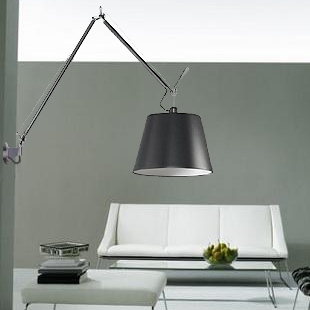 via garibaldi 12 vetrina on line illuminazione artemide tolomeo mega parete nera cm 36. Black Bedroom Furniture Sets. Home Design Ideas