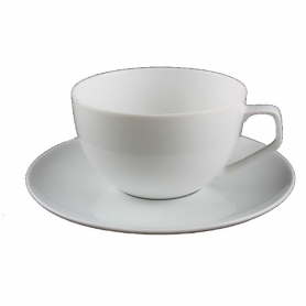 6 breakfast cups with saucers