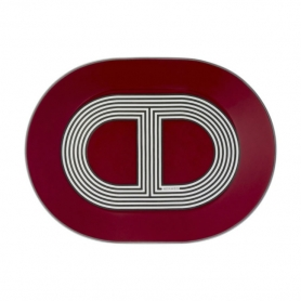 mini oval plate red
